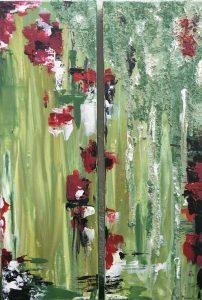 Rosas Rojas (25 x 75) x 2