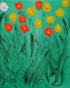 Flores de Masqali III 19 x 25