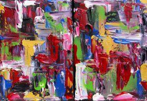 Díptico de colores I 16 x 22