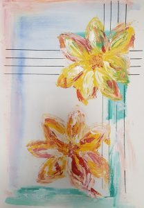Las Flores de mi Vida I 42 x 30